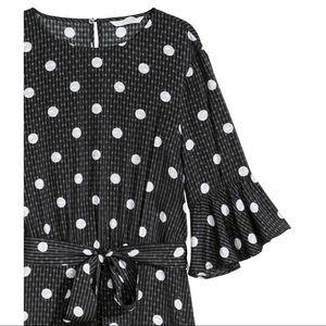 4617af229469 H&M Dresses | Hm Black White Flounced Ruffle Polka Dot Dress | Poshmark